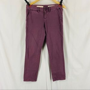 Anthropologie Pilcro Hyphen Pants Violet